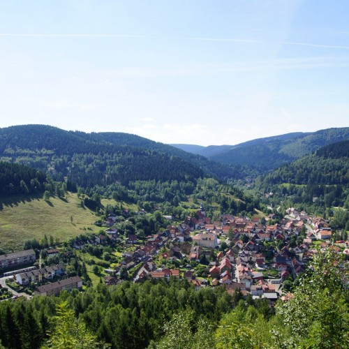 Luftaufnahme Bergstadt Lautenthal