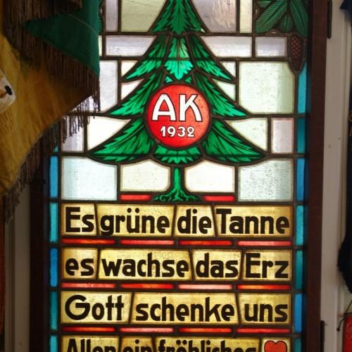 Fenster mit Oberharzer Wahlspruch