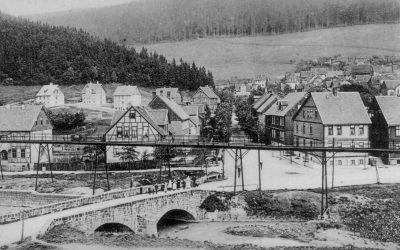 """Lautenthal um 1900 Blick auf """"Neue Straße"""", jetzt Bielsteinweg"""