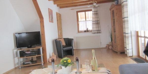 Wohnzimmer Ferienhaus Lärche